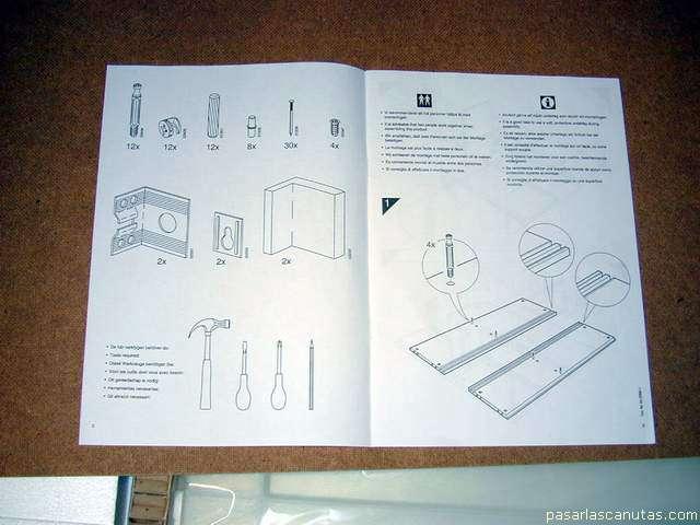 Pasarlascanutas como instale el mueble attityd de ikea for Instrucciones muebles ikea