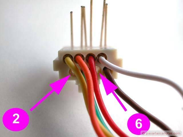 Cable cruzado Ficha RJ45