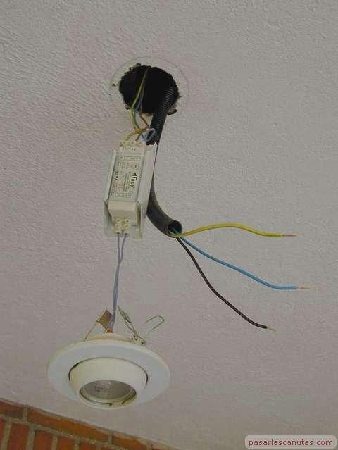 Bricolaje instalar l mpara alogena - Instalar lampara techo ...